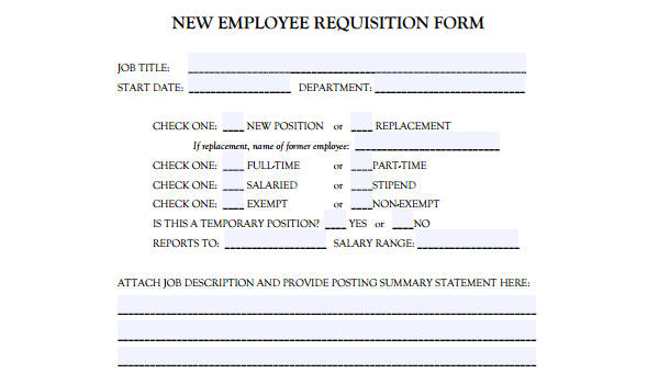 job requisition number example