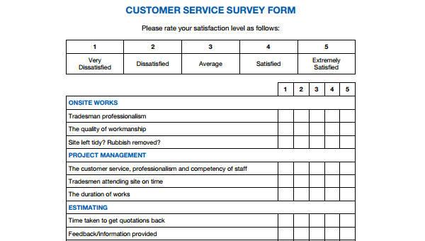 29+ Survey Form Templates