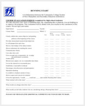high school course evaluation form