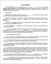 loan agreement blank form
