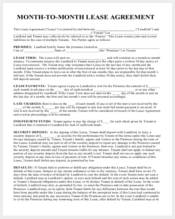 month to month room rental agreement form