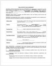 real estate agreement of sale form