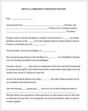 rent agreement form month to month1