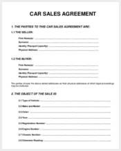 sale agreement form for car