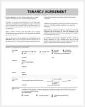 standard tenancy agreement form