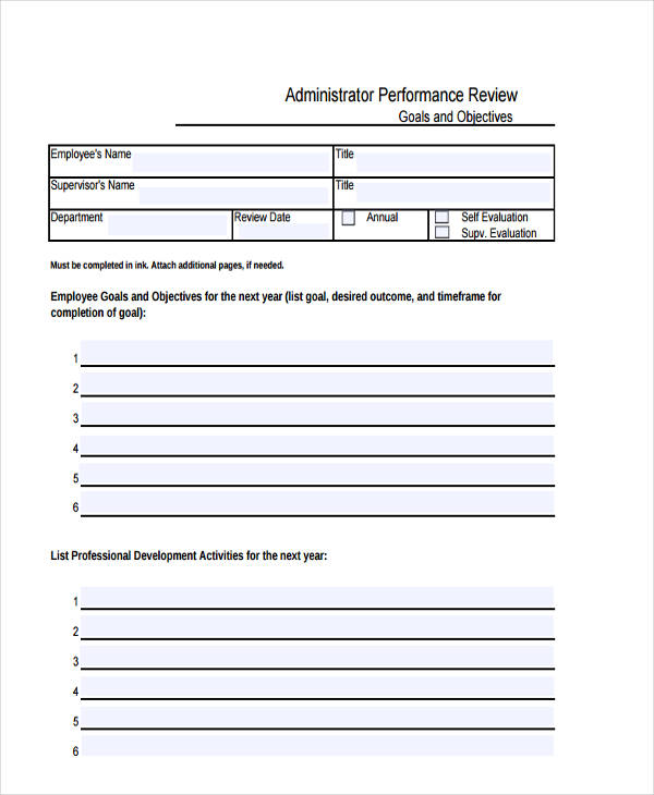administrative performance