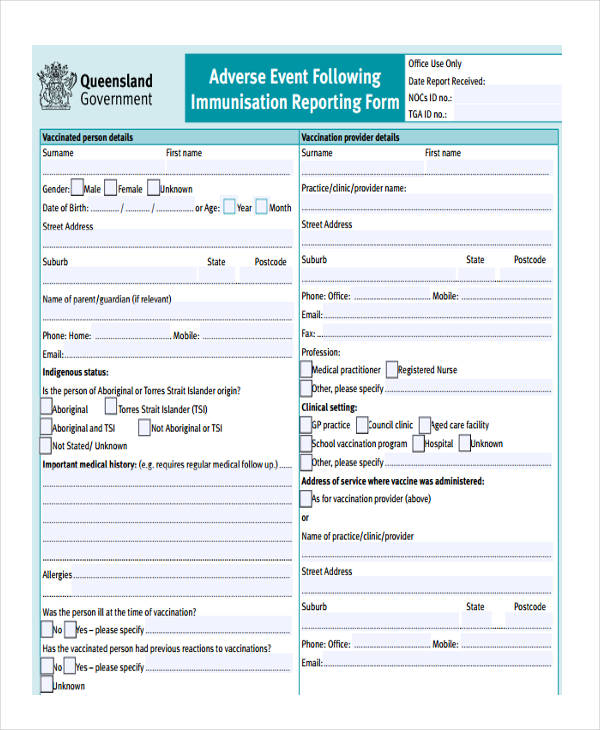 9+ Adverse Event Form - Free Sample, Example, Format Download
