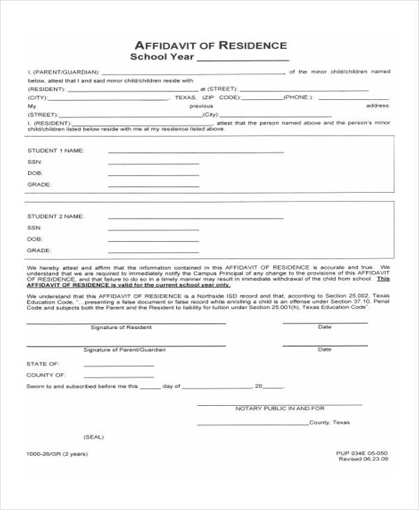 39 General Affidavit Forms in PDF