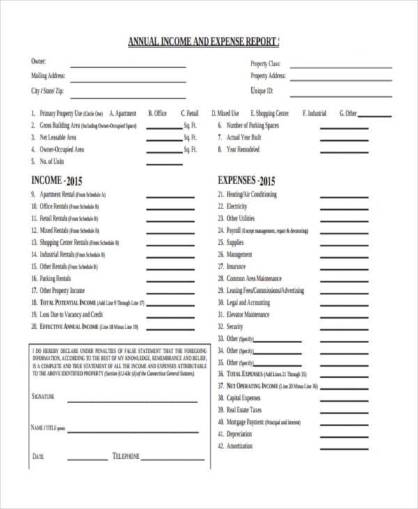 annual sales expense report form1