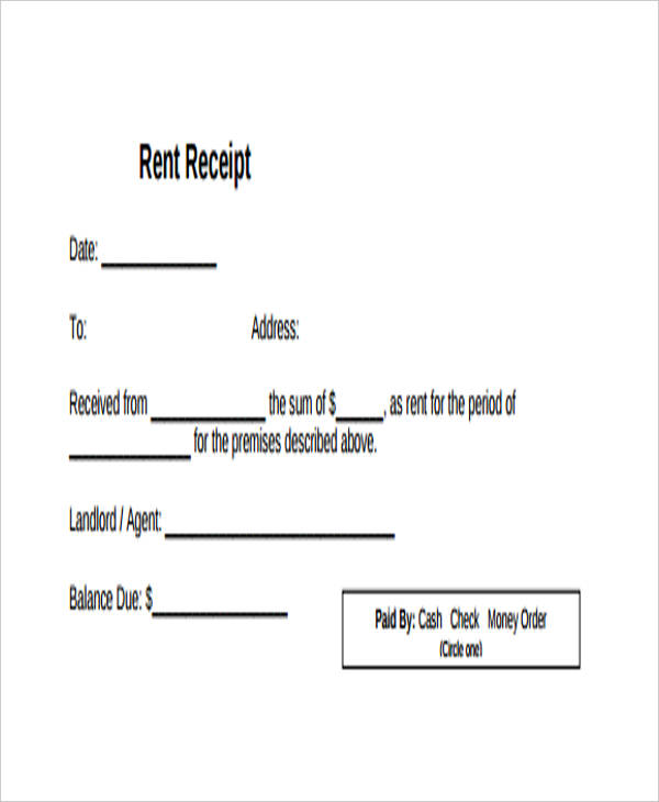 10 rent receipt form sample free sample example format download