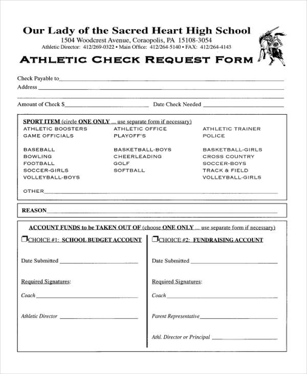 athletic check request