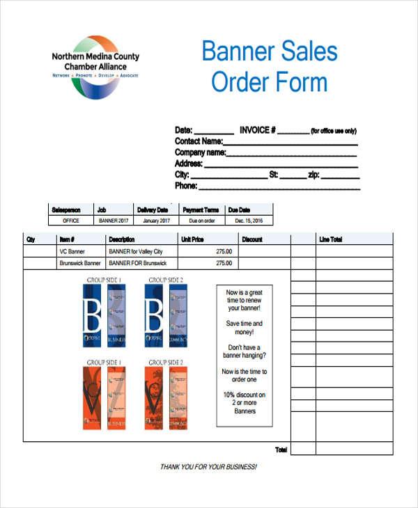 banner sales order