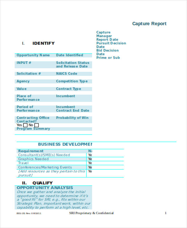 bid decisionevaluation form