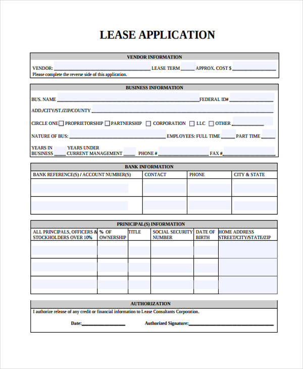 business lease credit application form1