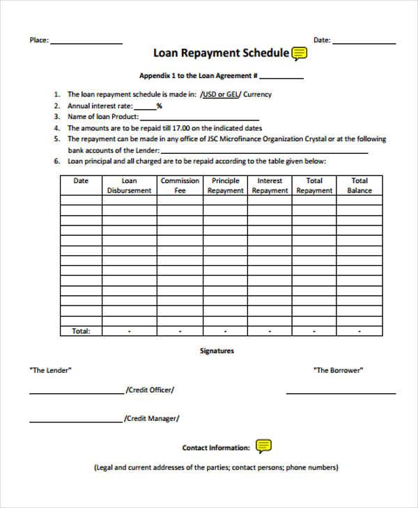 business loan agreement form pdf