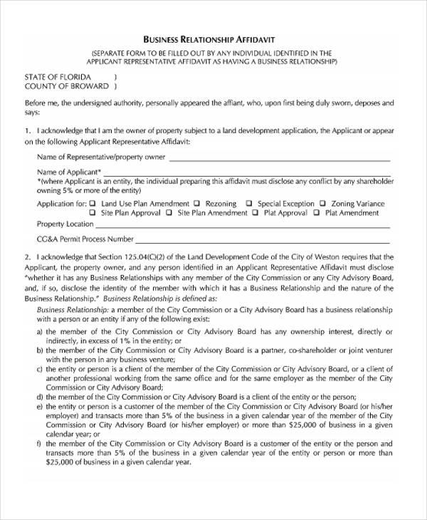 free 38  general affidavit forms in pdf