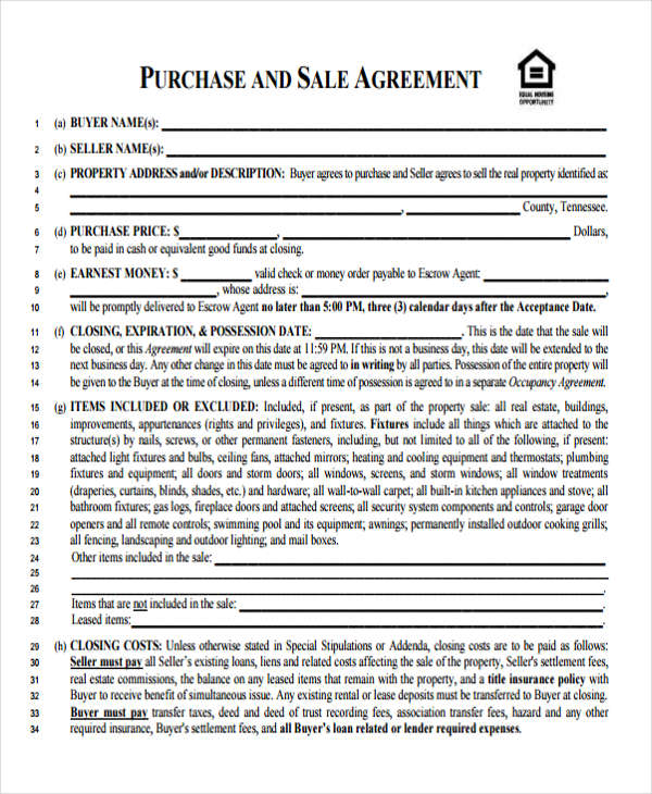 Sample Business Agreement Forms
