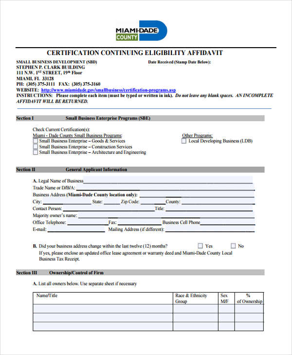 certification continuing eligibility