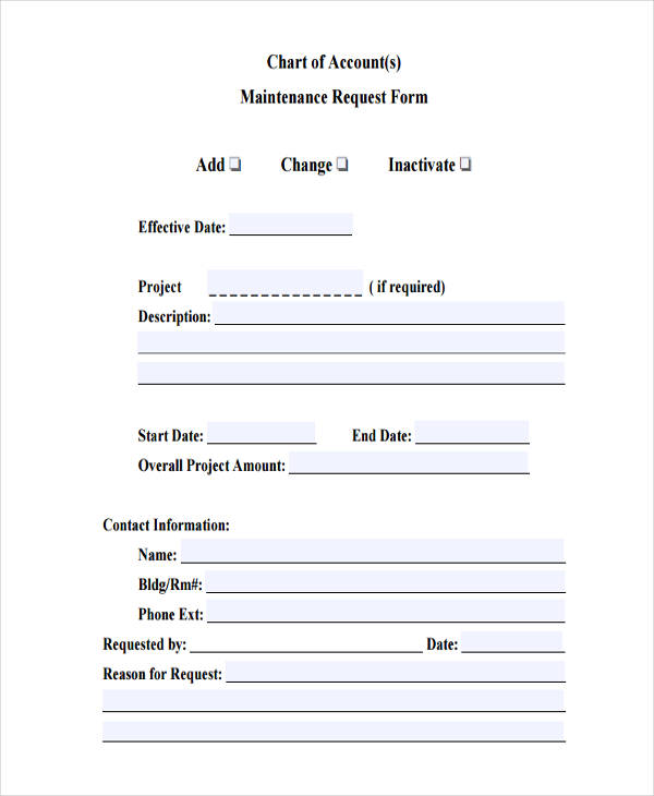 9+ Accounting Request Form Sample - Free Sample, Example