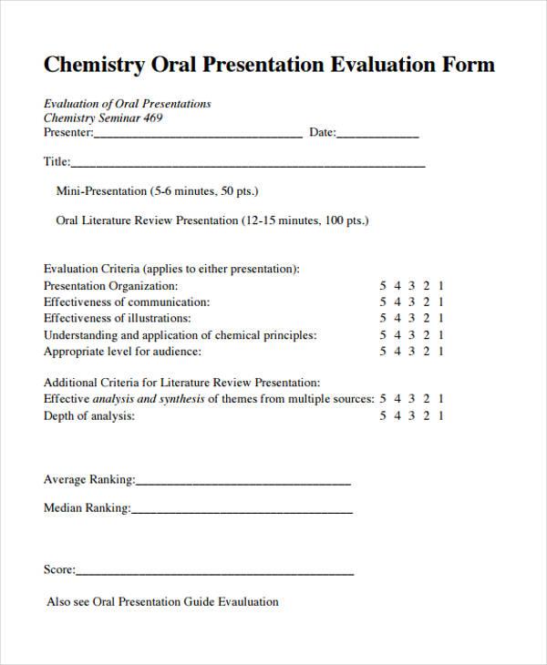 chemistry oral presentation