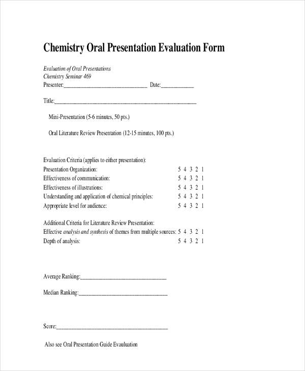 24 presentation evaluation form example chemistry oral presentation evaluation altavistaventures Image collections