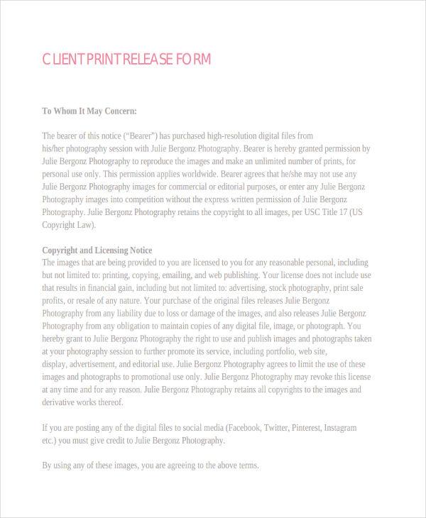 client photo print