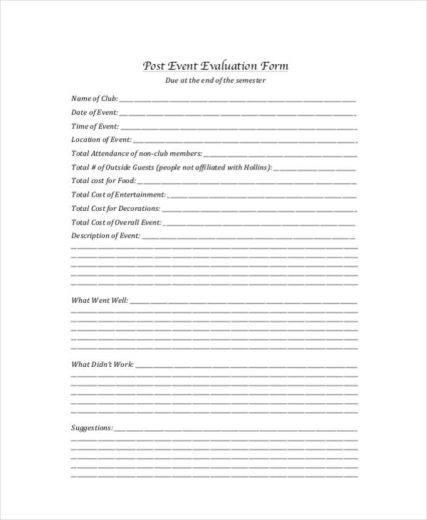 club post event evaluation form1