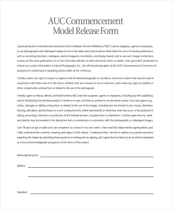 Print Release Forms In Pdf