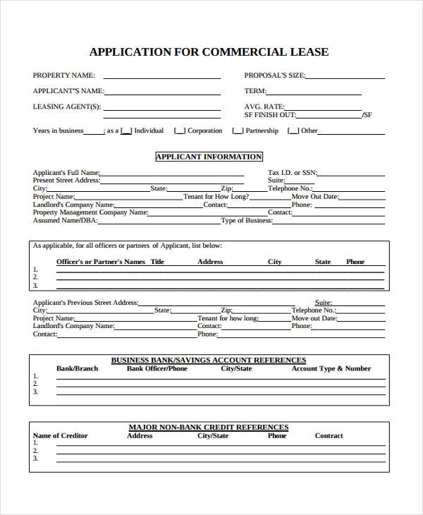 commercial property lease application form1