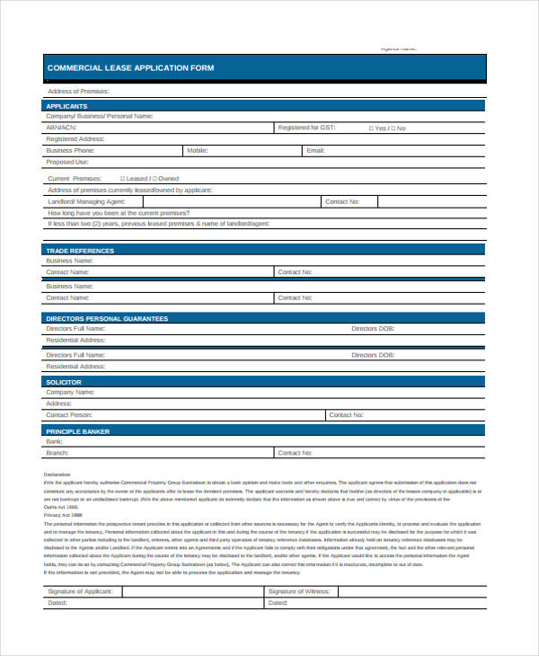 commercial property lease application form2