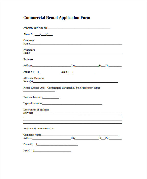 application for rental form