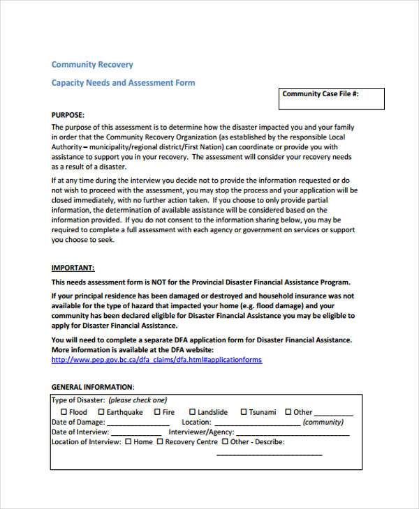 community capacity needs assessment form1