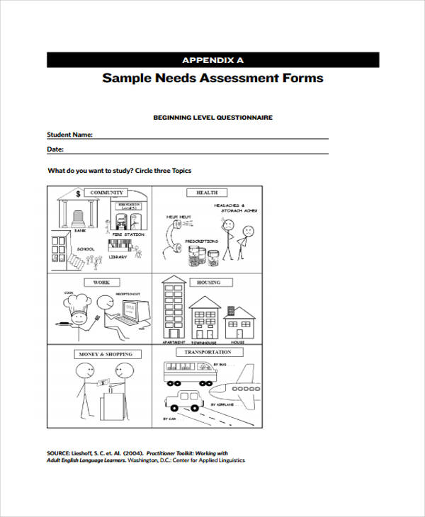 28Sample Needs Assessment Form – Sample Needs Assessment