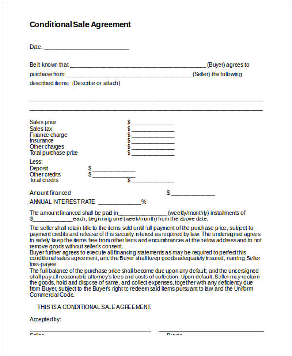 32 sales agreement form template