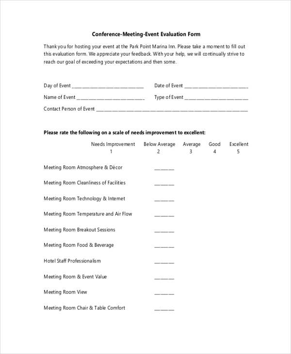 Event Evaluation Form In Pdf