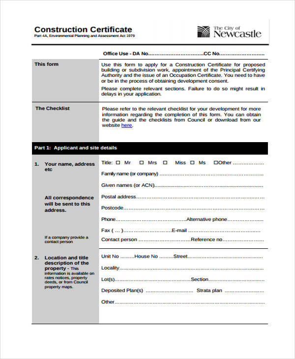 application for a nt general construction induction training card