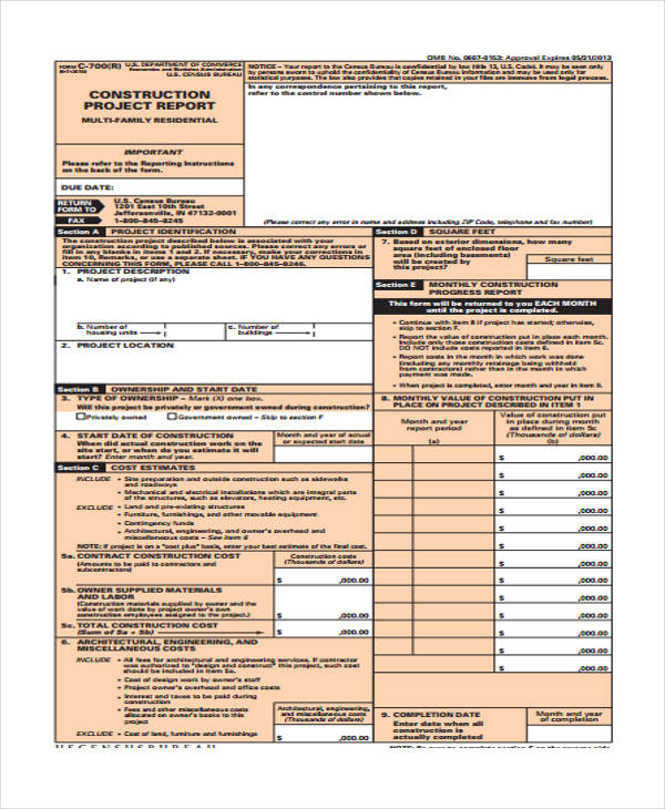construction project expense report form1