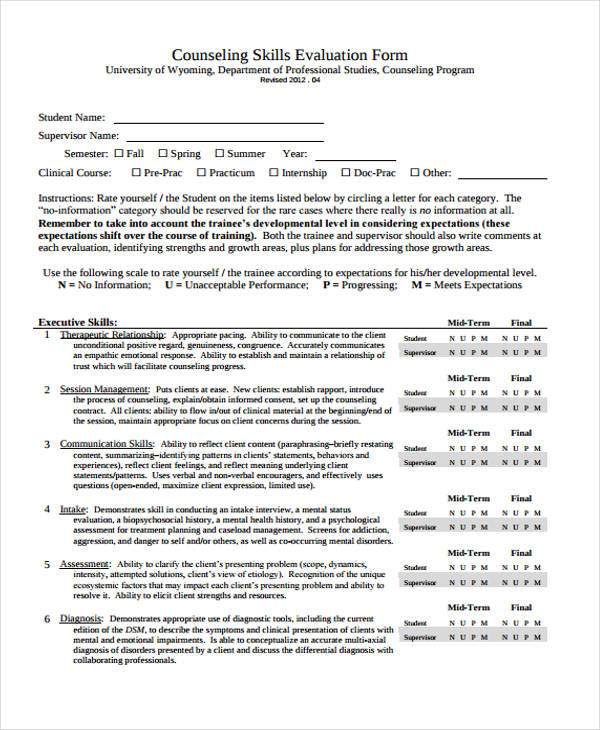counseling skills evaluation form1