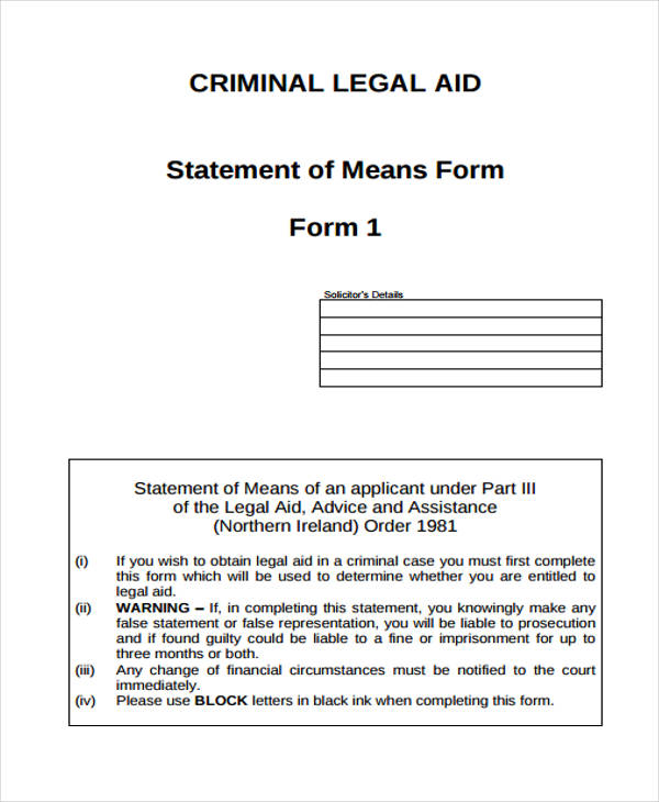 criminal legal statement form1