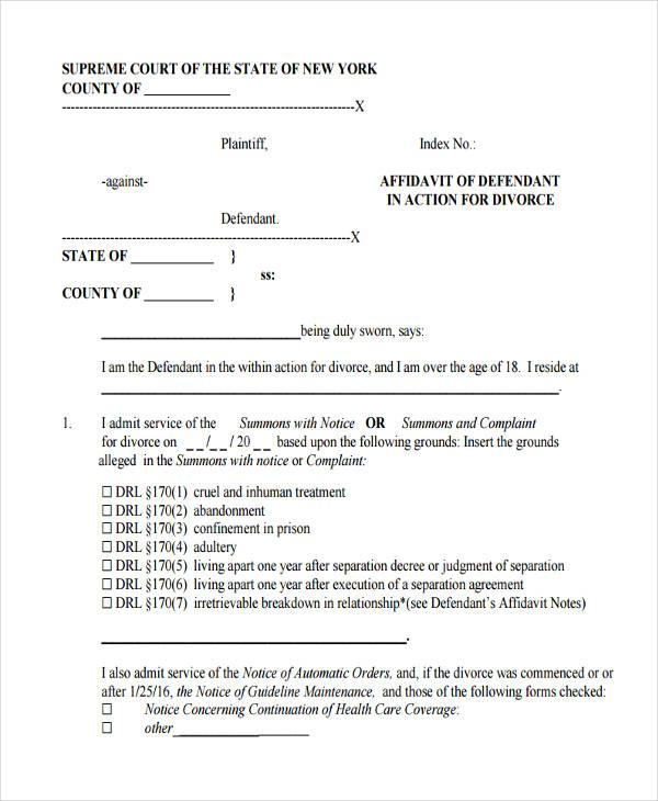 8 consent affidavit form free sample example format download defendant affidavit altavistaventures Gallery