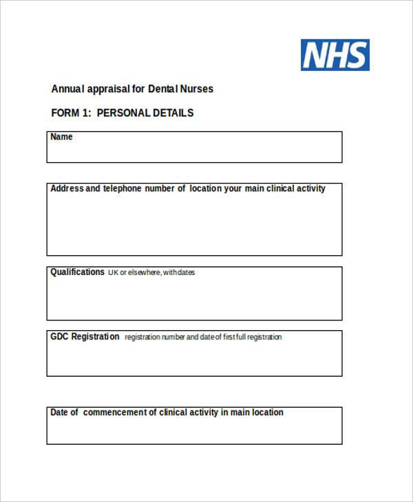 7+ Nurse Appraisal Form - Free Sample, Example,Format Download