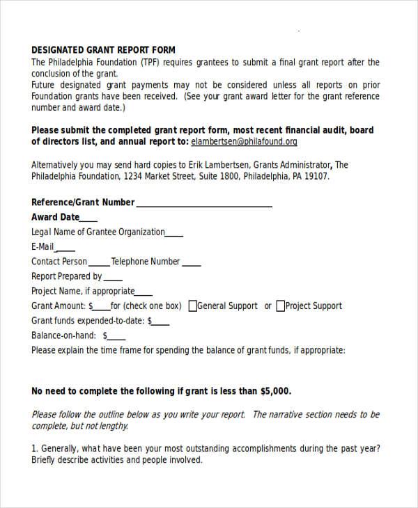 designated grant report form2