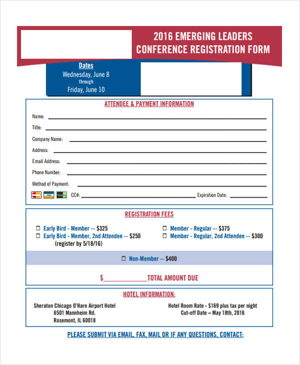 emerging leaders conference registration form