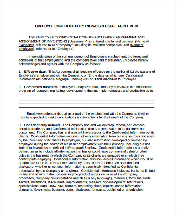 21+ Confidentiality Agreement Form Template - Free Documents In