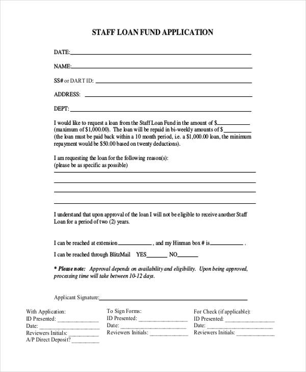 Employee Application Form Samples Examples Format Download