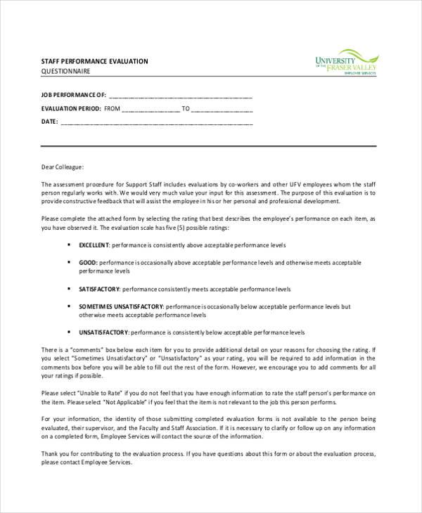 employee performance form