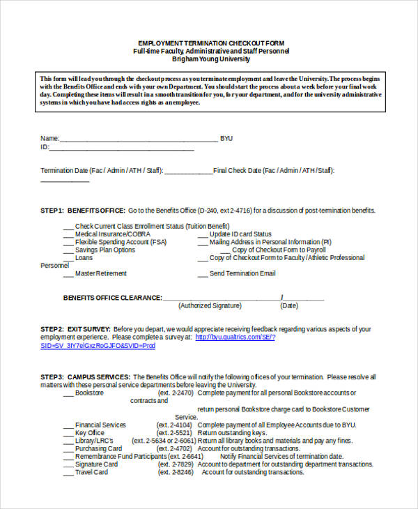 20+ Employee Clearance Form Example