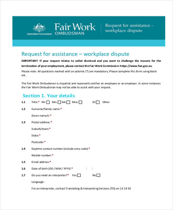 employer workplace form1