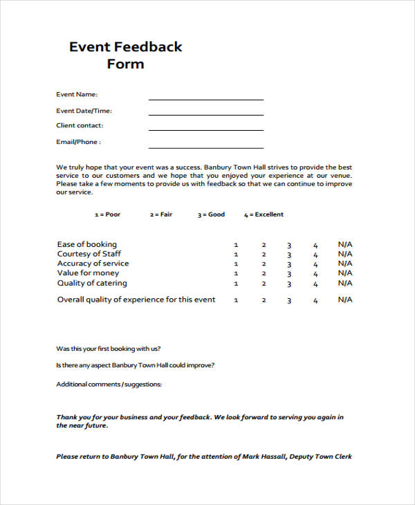 Pretty Client Evaluation Form Template Pictures >> Employee ...