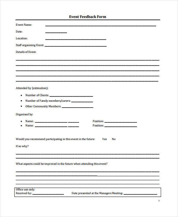 event planning feedback form1